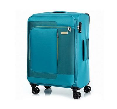 American Tourister Sens SP 68CM Luggage Carry Trolley Turquoise Yellow