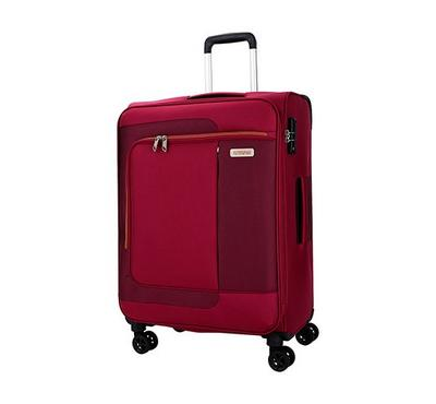 ‎American Tourister Sens SP 68CM Luggage Carry Trolley Pomegranite Coral