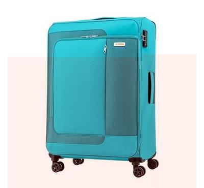 ‎American Tourister Sens SP 82CM Luggage Carry Trolley Turquoise Yellow
