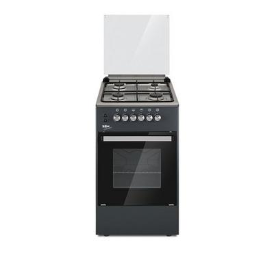 Zen 50x50cm Gas Cooking Range With Convection Silver/Black