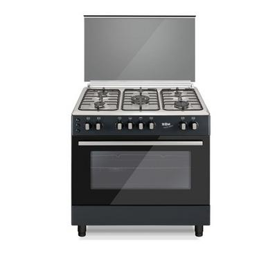 Zen 90x60cm Gas Cooking Range With Convection Silver/Black