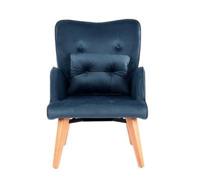 كرسي أنيق بذراعين لون أخضر داكن