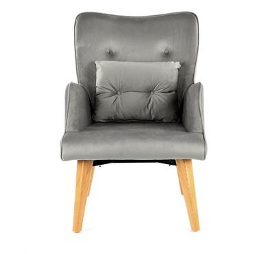 Homez Berger Stylish Designed Armchair, Light Grey