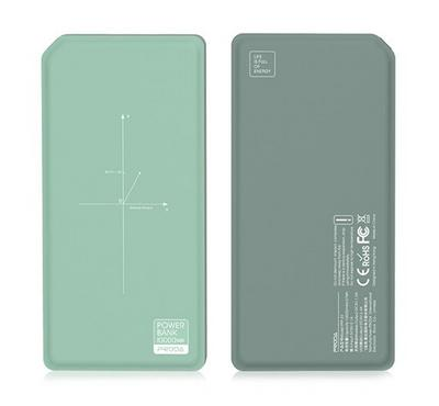 Proda CHICON, Wireless Power Bank, 10000mAh 2.4A, Green