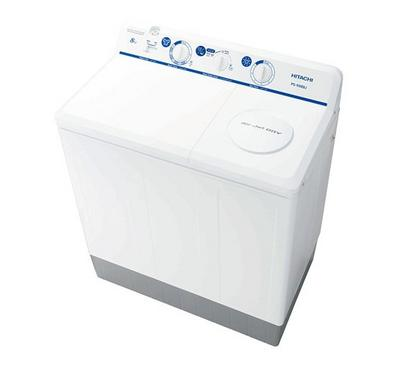 Hitachi Twin Tub Semi Automatic Washing Machine , 8kg, 220V 50/60Hz, White