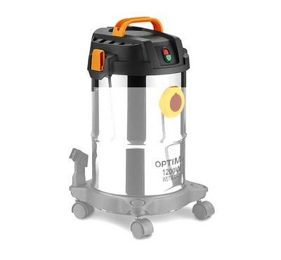 Optima 12.0L Drum Vacuum Cleaner Wet&Dry 1200W Black/Steel