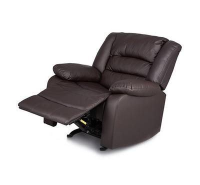 Rocking Recliner Armchair Artificial Leather Brown
