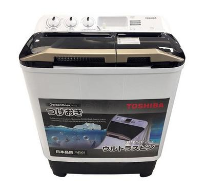 Toshiba Washing Machine, Twin Tub, 10 KG, Plastic Body White