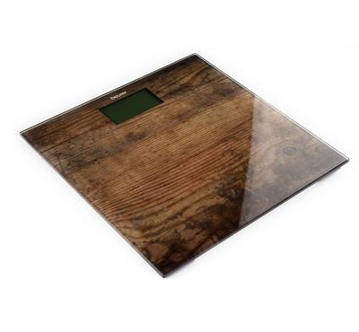 Beurer Wood Glass Scale, white LCD-Illumination, Extra Large LCD Display