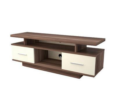 Bismot Curved TV Stand, Wooden Base 140 CM, Suitable for 32 to 55 Inch TVs