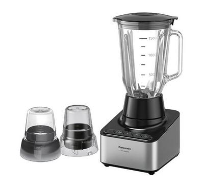 Panasonic Blender, 2.0L Glass Jar-800W, Silver/Black