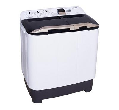 Toshiba Twin Tub Semi Automatic Washing Machine  6.5 kg, White