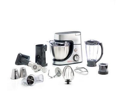 Moulinex Kitchen Machine, 1100W, 4.6L, 6 Speed, Premium Silver