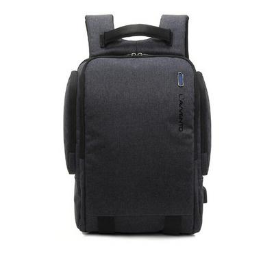 Lavvento Discovery Laptop Backpack Bag, 15.6 Inch, Grey