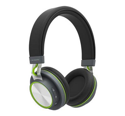 Lavvento Bluetooth Headphone Multiple touch-button, Black/Green