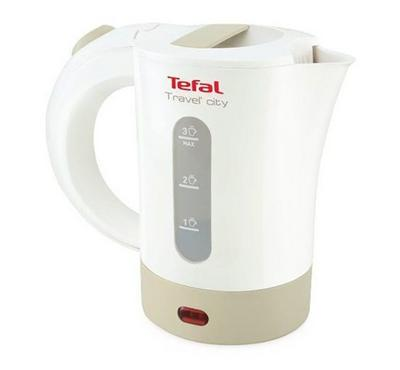 Tefal 650w kettle 500ml capacity, water level gauge, scale filter, led indicator, White