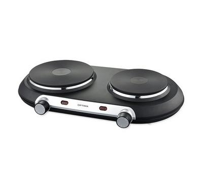 Optima 2P Double Electric Hot Plate 2250W Black