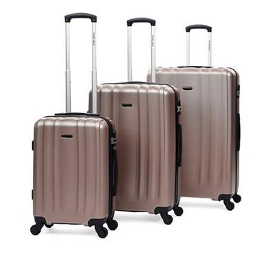 Travel Gear Linear Set Of 3 -20/26/30, Pink Champagne