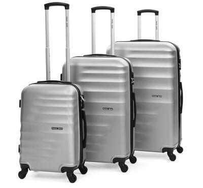 Travel Gear Horizontal Set Of 3 -20/26/30, Clear Grey