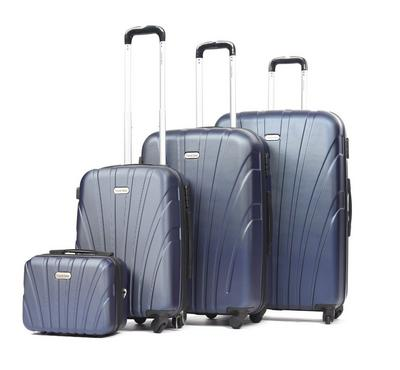Travel Gear Shell Set Of 4 -20/26/30/Vanity Bag, Blue
