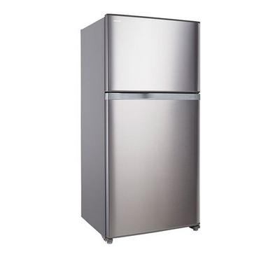 Toshiba 720.0L Fridge Top Mount Freezer Bright Silver