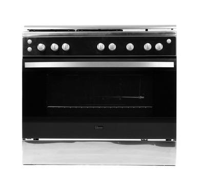 Gibson Gas Cooker 90x60cm, 5 Gas Burners,Stainless Steel