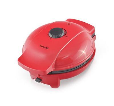 ساشي، ماكينة صنع دونات، وافل، براوني، 3 في 1، 700 واط، أحمر