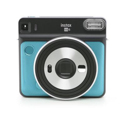 FUJIFILM instax SQUARE SQ6 Instant Film  square format camera, Aqua Blue