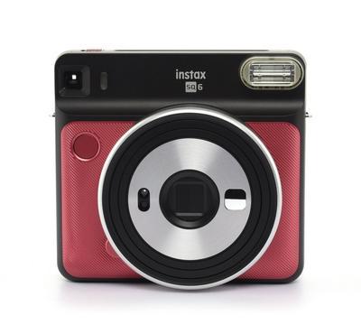 FUJIFILM instax SQUARE SQ6 Instant Film square format camera, Ruby Red