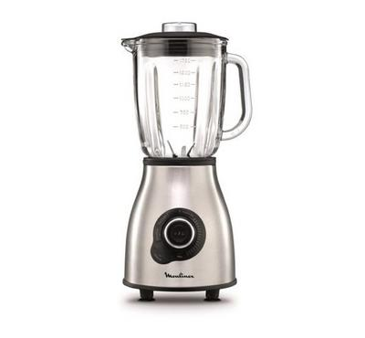 Moulinex Blender Master Mix 1400W, 2L. Variable Speed+Pulse. Glass Jar.Silver