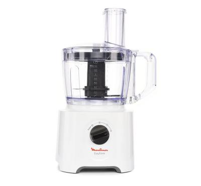 Moulinex 800W Food Processor, 2 plus pulse, 2.4Ltr capacity jar, white