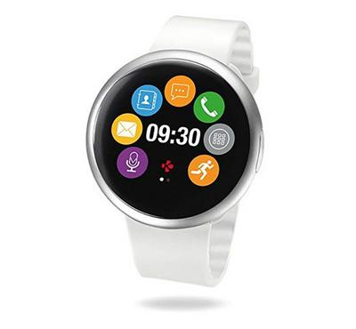 Mykronoz Smartwatch with circular color touchscreen white silver