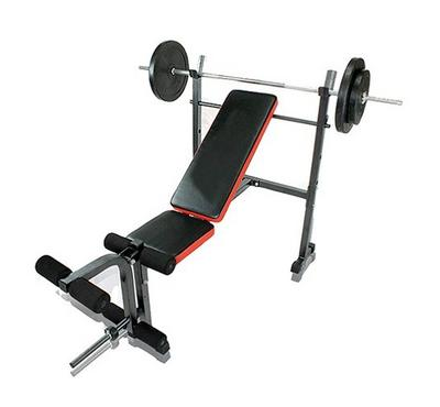 Body Builder Weight Lifting Bench