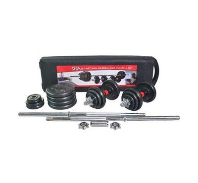 Body Builder Barbell Set 50 Kg Black