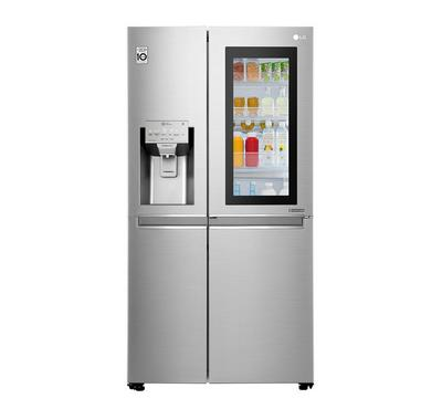 LG Side by Side Refrigerator 21.2 Cu.ft, Instaview, Noble Steel