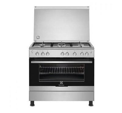 Electrolux 90x60cm freestanding cooker, 5 Gas Burners, Gas Oven & Grill, Full safety & Ignition