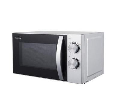 Sharp 700W 20Ltr Compact Microwave oven, 6 Power Levels, Mechanical Control, Silver