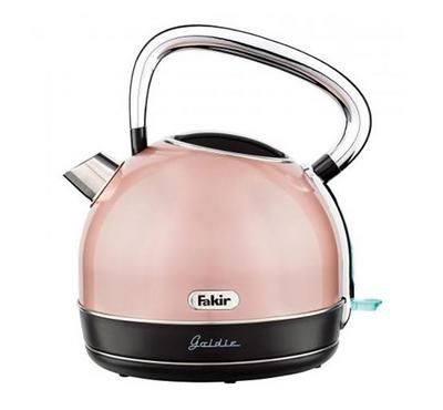 Fakir GOLDIE 1.7L Dome Kettle 2200W Stainless Gold.