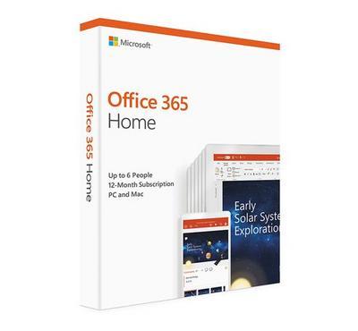 Microsoft Office 365 Home Mac/Win, 1 Year, 6 User