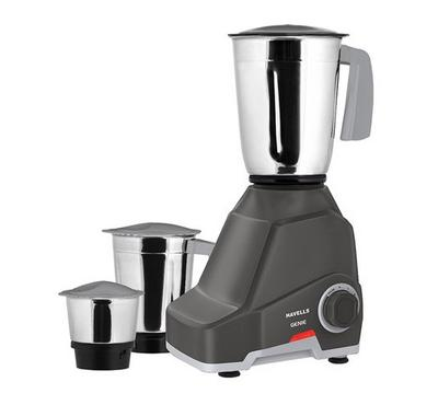 Havells Mixer/Grinder GENIE, 3-in-1, 1.5L, 500W, Stainless Jar, Grey.