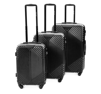 Travel Vision Trolley Set 3 Pcs Black