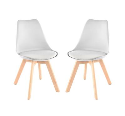 Homez Stylish Design Chair Light Grey P6 with fabric NO.113 Cool grey (Set of 2 Chairs)