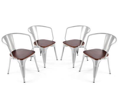 هومز، كرسي بتصميم أنيق لون رمادي، مجموعة من 4 كراسي