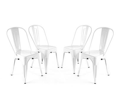 Homez Stylish Design Chair White JA045 (Set of 4 Chairs)