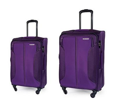 Carlton 4 Wheel 2 pc (58,78) Luggage Set Assorted Colours