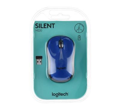 LOGITECH M220 SILENT Mouse, Blue
