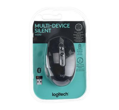 LOGITECH M590 Multi-Device Silent Wireless Mouse, Graphite Tonal