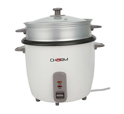 Charm Rice Cooker. 2.8L, with Cooling Indicator,900 W, White