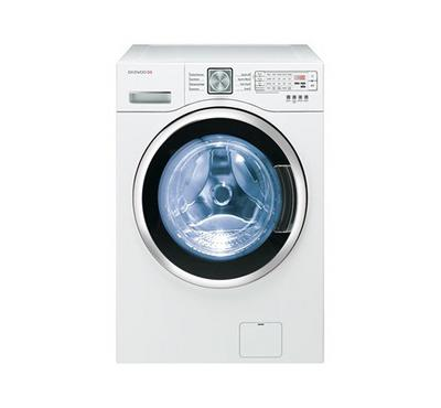 Daewoo Washer 9kg, Dryer 7kg, Front Load, Direct Drive, 1000 RPM, White