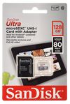 SANDISK Ultra Android microSDXC plus SD Adapter 128GB 80MB/s Class 10 - Tablet Packaging